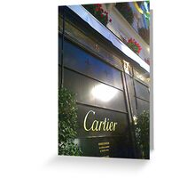Closed Cartier Greeting Card