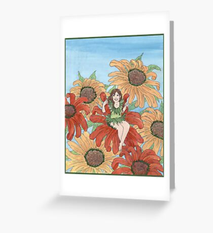 Echinacea Elf Greeting Card