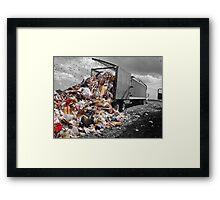 Power Dump Framed Print