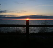 Sun Setting on the Post by Chris Coates