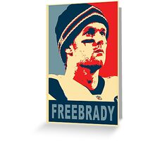 #FreeBrady - New England Patriots - #deflategate Greeting Card