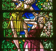 1984 Chalons sur Marne St Etienne Window Cain kills Abel by Fred Mitchell