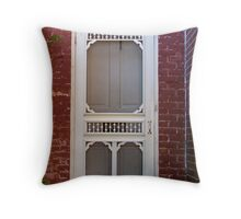 Walk Through the Door of the Past into the Future Throw Pillow