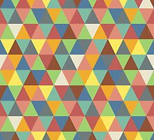 Hippy triangles (darker) by Morag Anderson