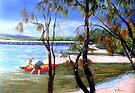 Bribie Island Bridge  by Virginia McGowan