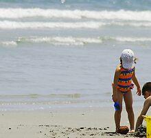 beach kids by Denise Benson
