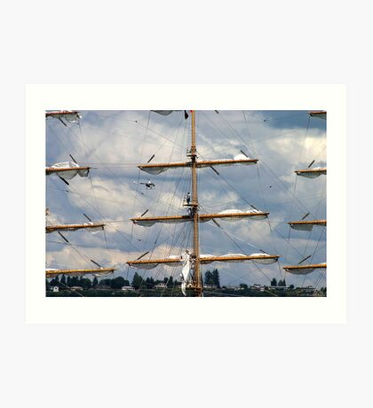 Masts Of Pallada Art Print