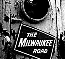 Railroad Locomotive The Milwaukee Road by WesBalavender