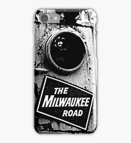 Railroad Locomotive The Milwaukee Road iPhone Case/Skin