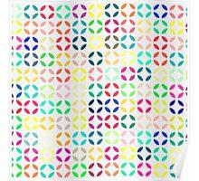 Bright Multi Colored Modern Quatrefoil Poster
