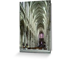 Soissons nave to choir 19840507 0004 Greeting Card