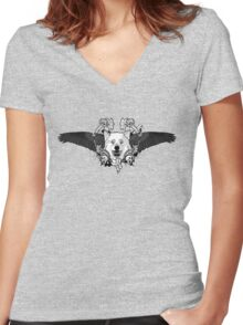 Wildlife Death Women's Fitted V-Neck T-Shirt