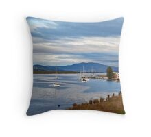 Huon River at Franklin Throw Pillow