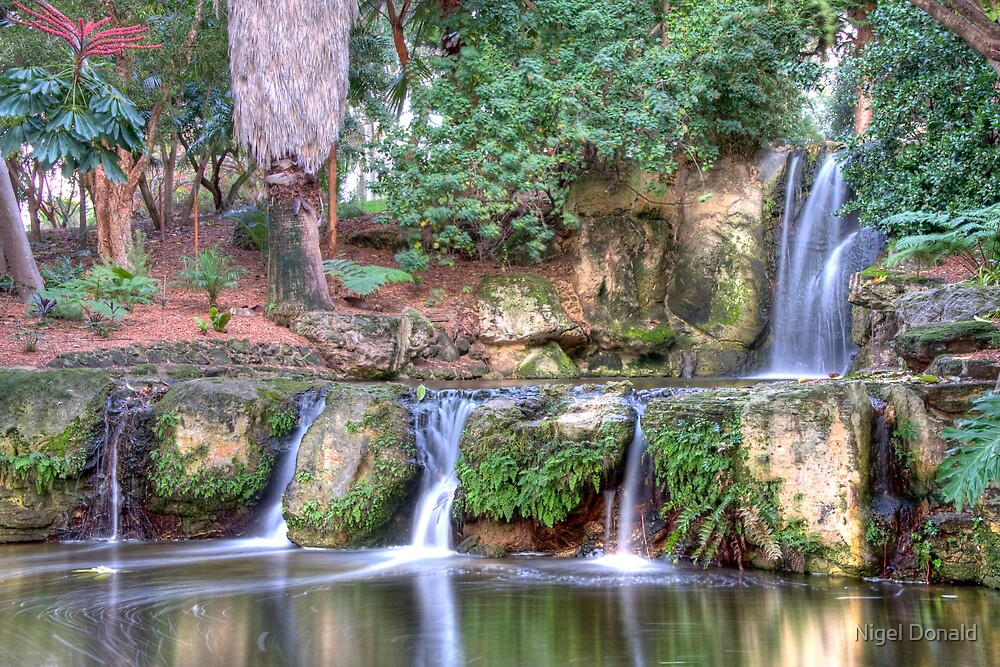 Double Waterfall 1 HDR by Nigel Donald