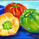 colorful peppers by semas