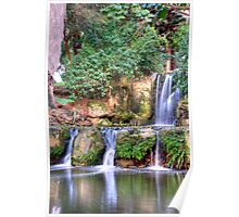 Double Waterfall 2 HDR Poster
