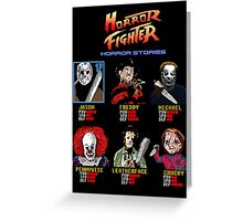 Horror Fighter Greeting Card
