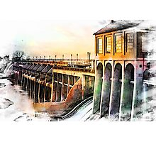 Watercolor Dam Photographic Print
