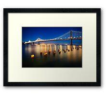 Bay Bridge Night View Framed Print