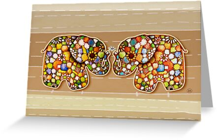 Patchwork Elephants by © Karin Taylor