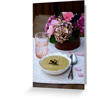 Soup and Flowers Greeting Card