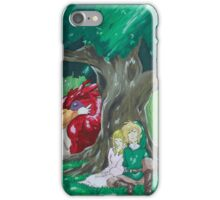 Link and Zelda napping iPhone Case/Skin