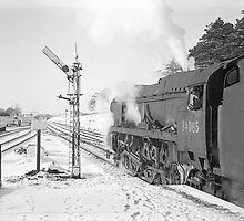Steam in the snow by Nigel Kendall