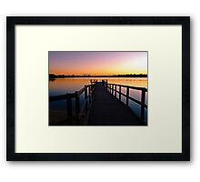 Canning River at Shelley, Perth, Western Australia Framed Print