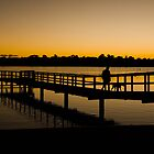 Walking the dog at the end of the day by Karen Stackpole