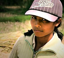 Balinese Girl in a Baseball Hat by JonathaninBali