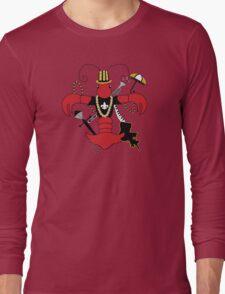 Red Crawfish Fleur de Lis Long Sleeve T-Shirt