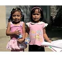Girls in a Balinese Playgroup, East Bali Photographic Print