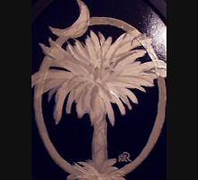 SC Palmetto and Crescent on Wood Unisex T-Shirt