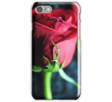 Red Rose Green Stem iPhone Case/Skin