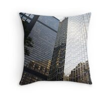 Steel Embrace Throw Pillow