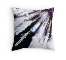 ...fairy broomstick - dewy morning... Throw Pillow