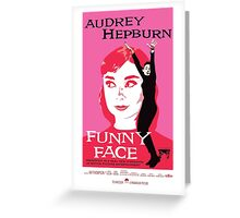 Audrey Hepburn in Funny Face Greeting Card