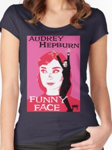 Audrey Hepburn in Funny Face Women's Fitted Scoop T-Shirt