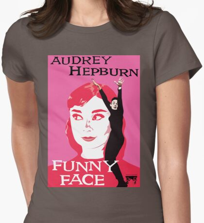Audrey Hepburn in Funny Face Womens Fitted T-Shirt