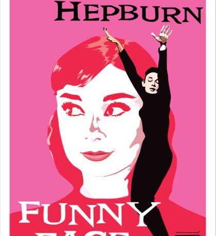 Audrey Hepburn in Funny Face Sticker
