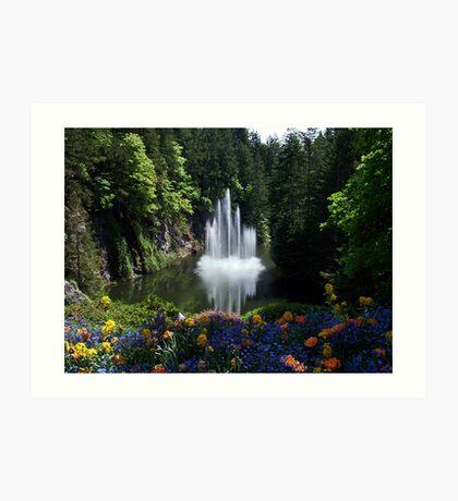 Butchart Gardens, BC, Canada Art Print