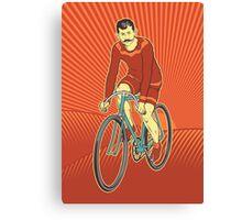 Retro Cyclist Canvas Print