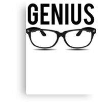 Genius Geek Glasses Nerd Smart Canvas Print