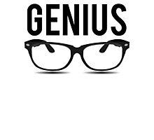 Genius Geek Glasses Nerd Smart Photographic Print