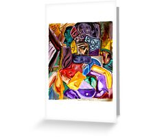 Cubist Figure Greeting Card