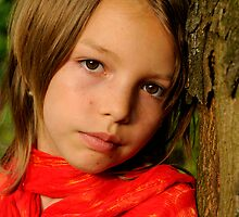 girl in red by fotomagique