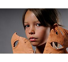 girl with mask Photographic Print