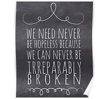 Chalkboard John Green Looking For Alaska Swirl Irreparably Broken Poster