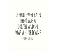 If People Were Rain Art Print