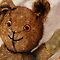 Tillie - teddy bear portrait painting by LindaAppleArt